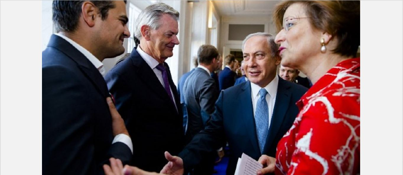 WATCH: Dutch MP refuses to shake Netanyahu's hand
