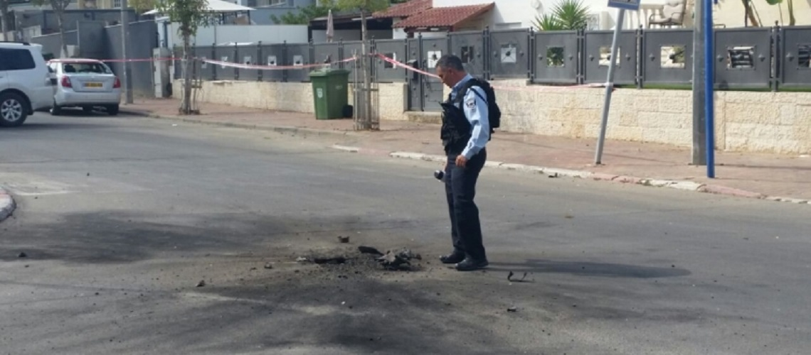 Rocket from Gaza lands in Israeli city of Sderot