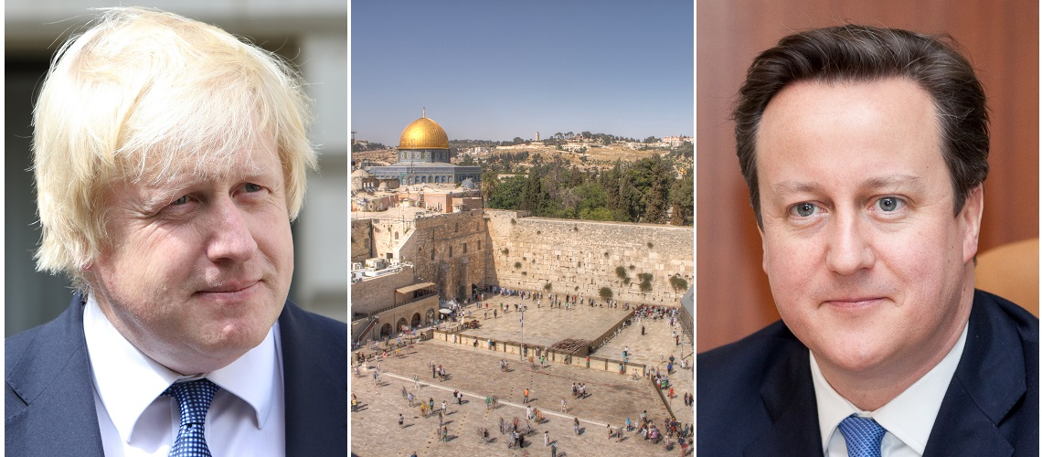 After falling out over Brexit, David Cameron and Boris Johnson make peace in Jerusalem