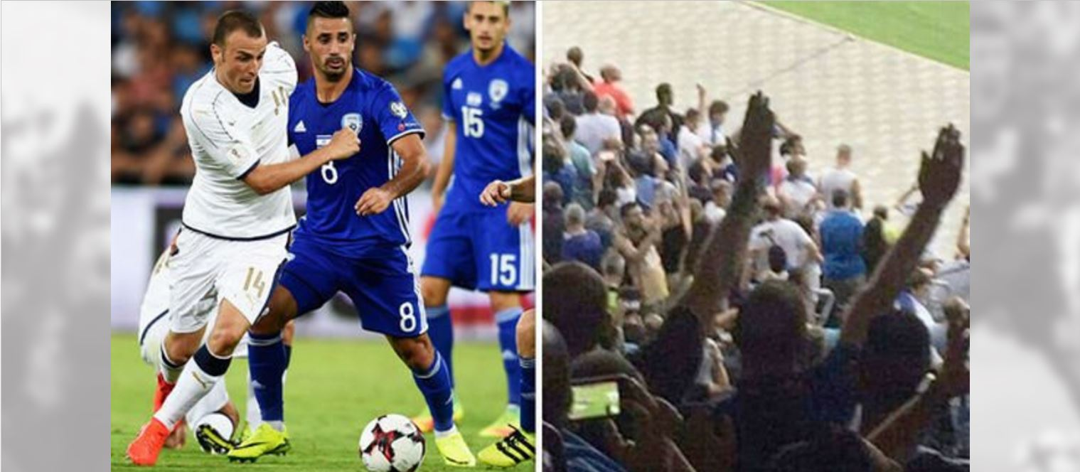 Fans' Nazi salute during Israel match earns Italy 27,000 euro fine from FIFA