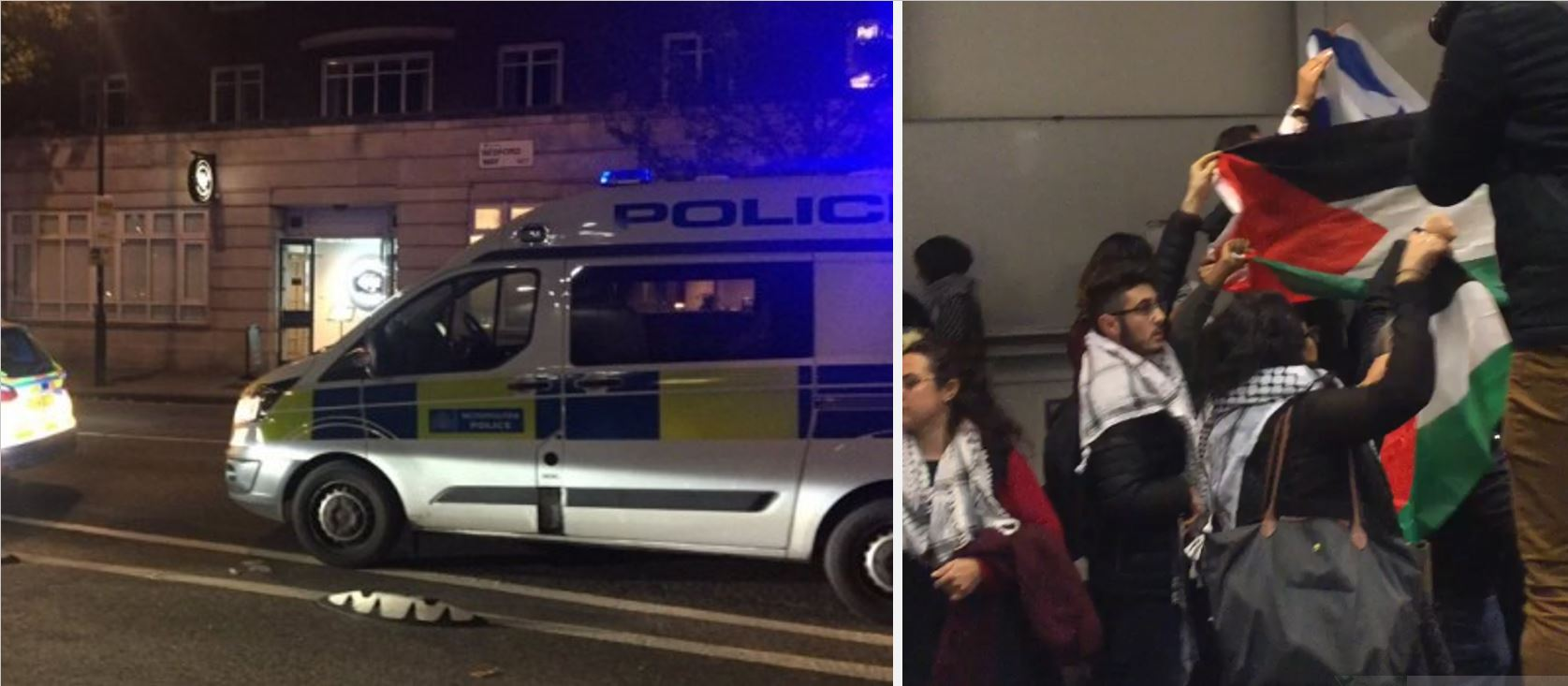 Police called to London university as violent anti-Israel protest forces attendees to lock themselves in room