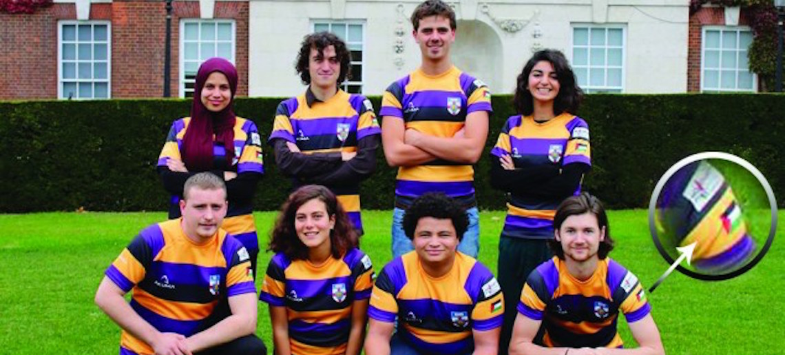 London university rugby team wears Palestinian flag on kit