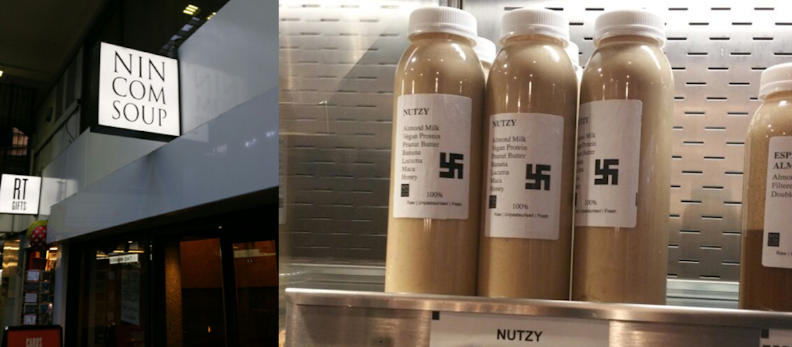 London cafe sells Nazi inspired 'Nutzy' smoothie with swastika label