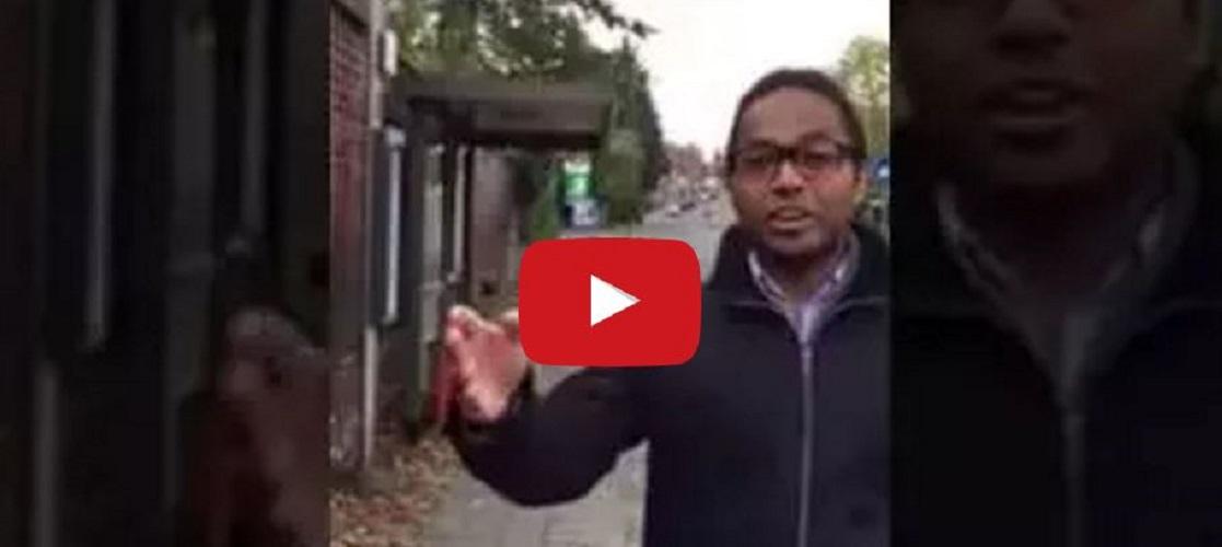 Anti-Semitic abuse at London bus stop