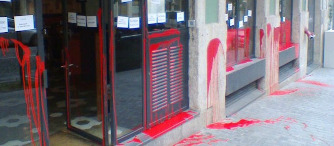 Portuguese restaurant vandalised by anti-Israel activists
