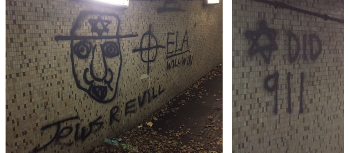 Anti-Semitic graffiti found in Southwick, East Sussex