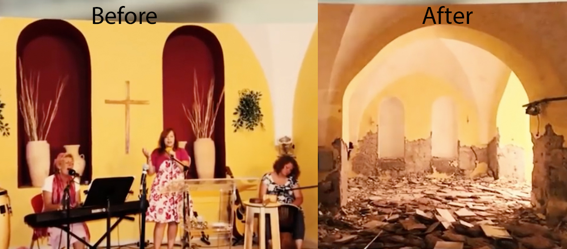 Jerusalem church destroyed, Bibles burned by Muslim neighbours