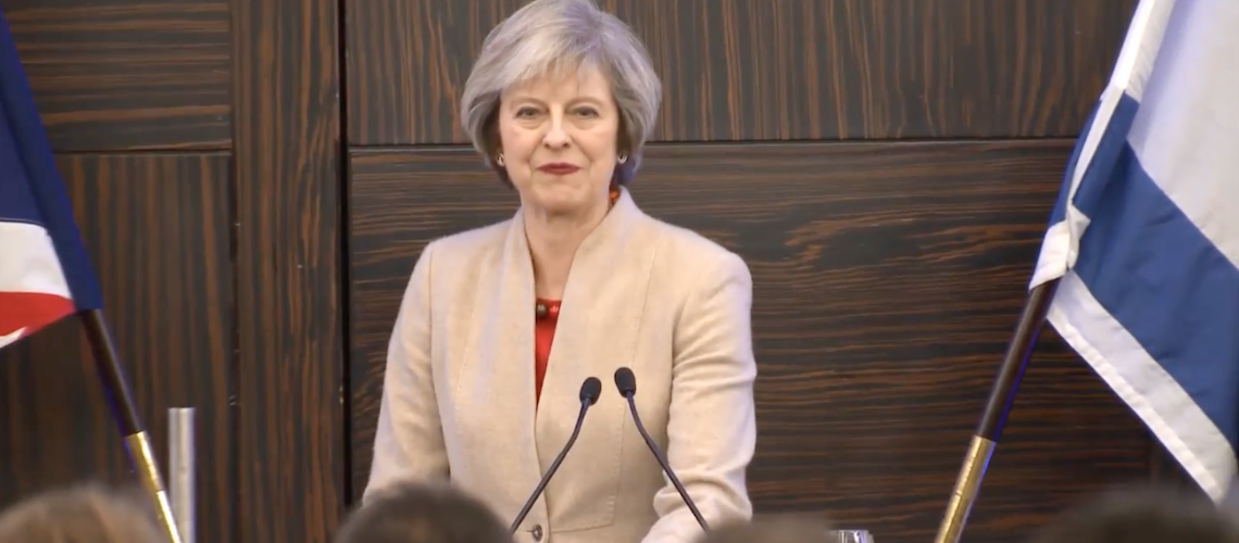 Watch: Theresa May's full speech at Conservative Friends of Israel event