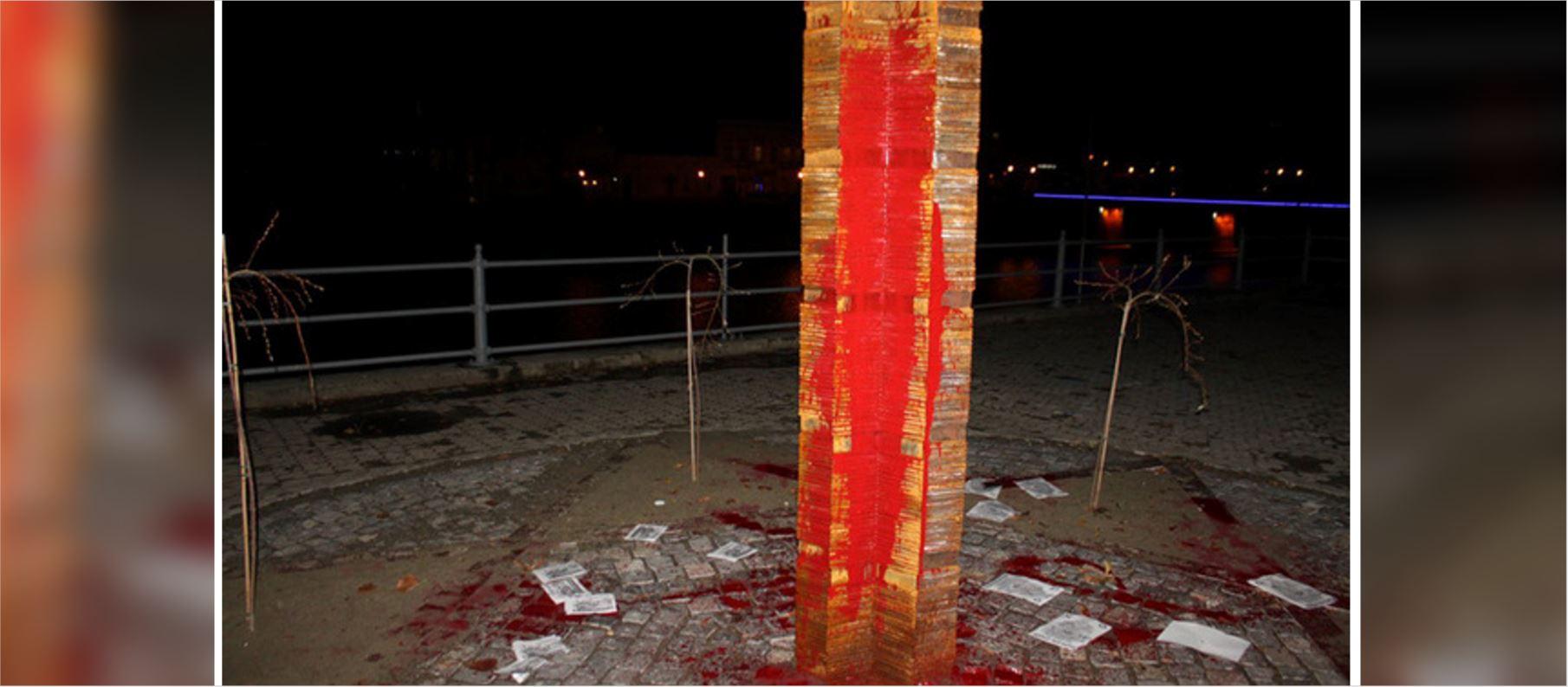 Anti-Semites attack Holocaust memorial in Ukraine