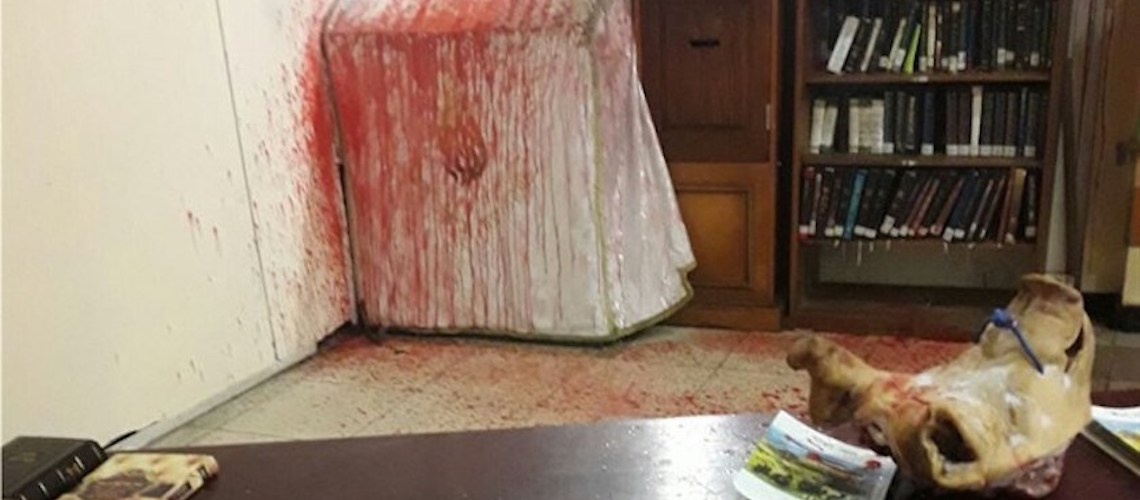 Ukraine: Neo-Nazis attack Jewish worshippers, spray tear gas, desecrate tomb with pigs head