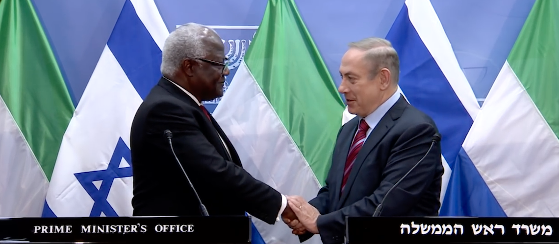Sierra Leone President praises Israel's support in fighting Ebola