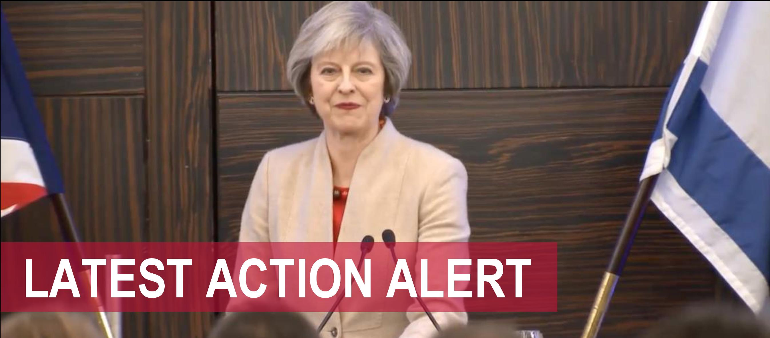 ACT NOW: UK votes against Israel at UN – Contact PM Theresa May