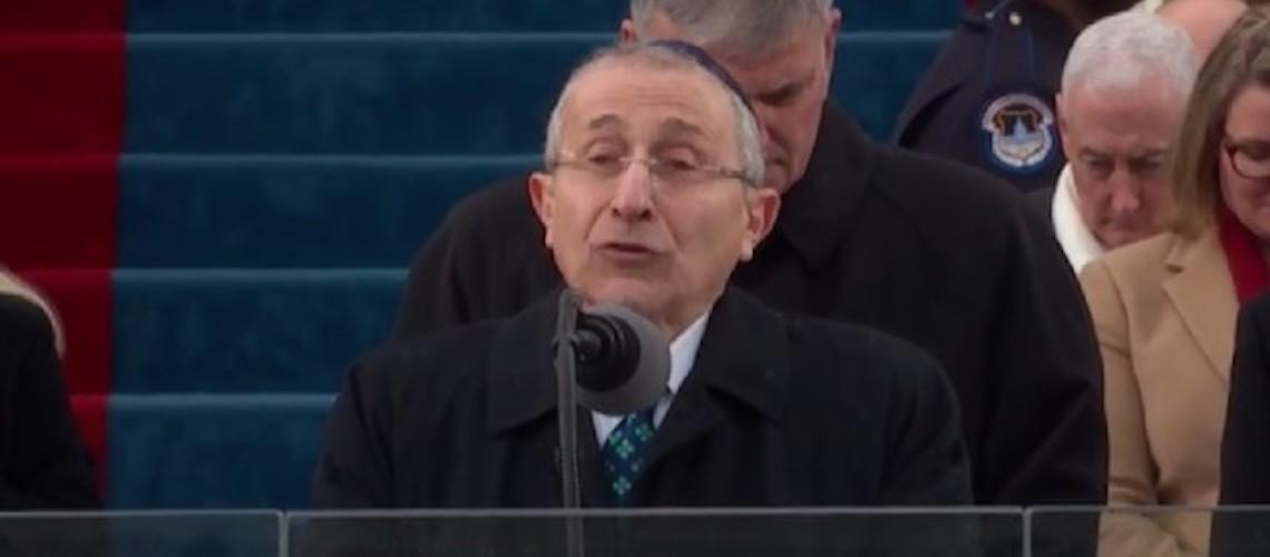 Trump's inauguration Rabbi targeted by sick anti-Semitic tweets