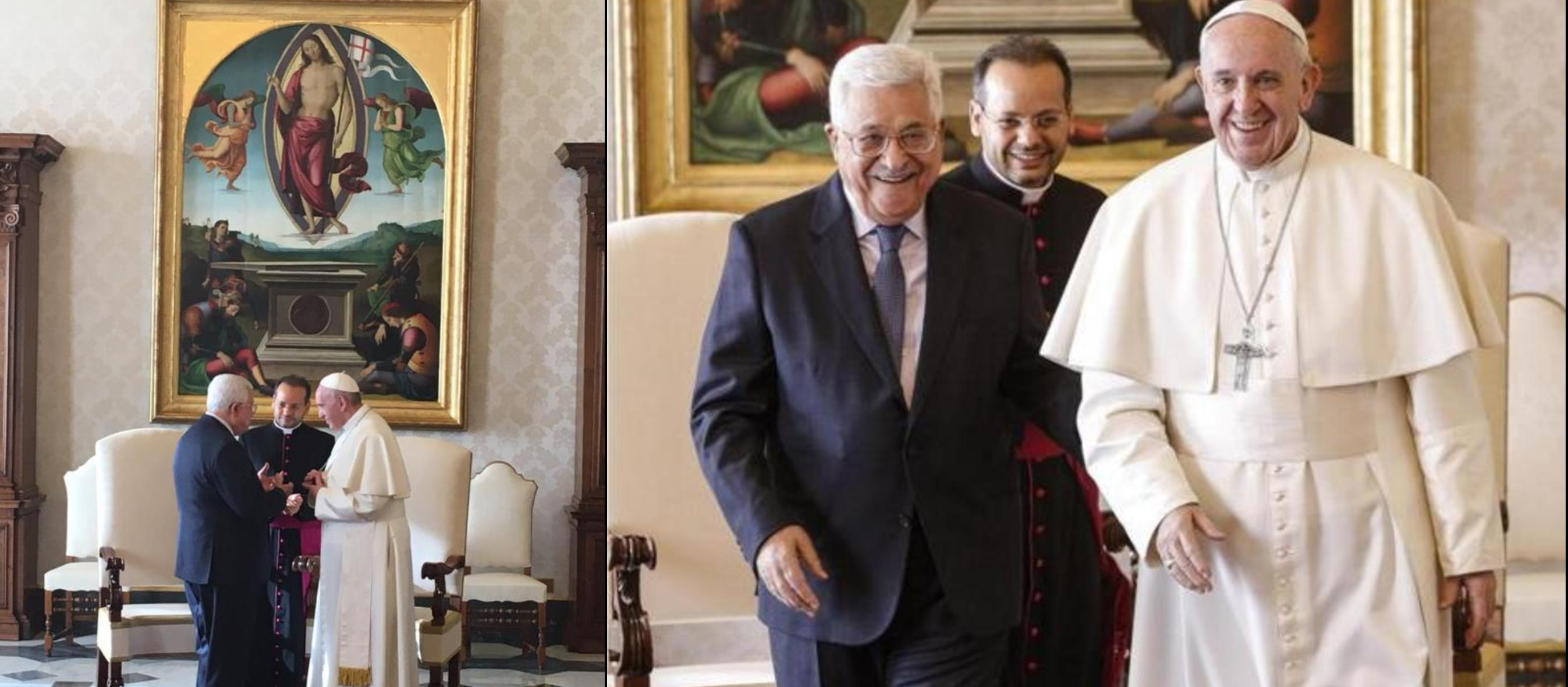 "Vatican recognises ""State of Palestine"" as Abbas meets with Pope and opens embassy"