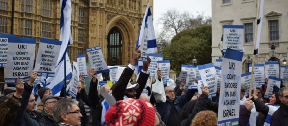 Westminster protest held against UN anti-Israel resolution