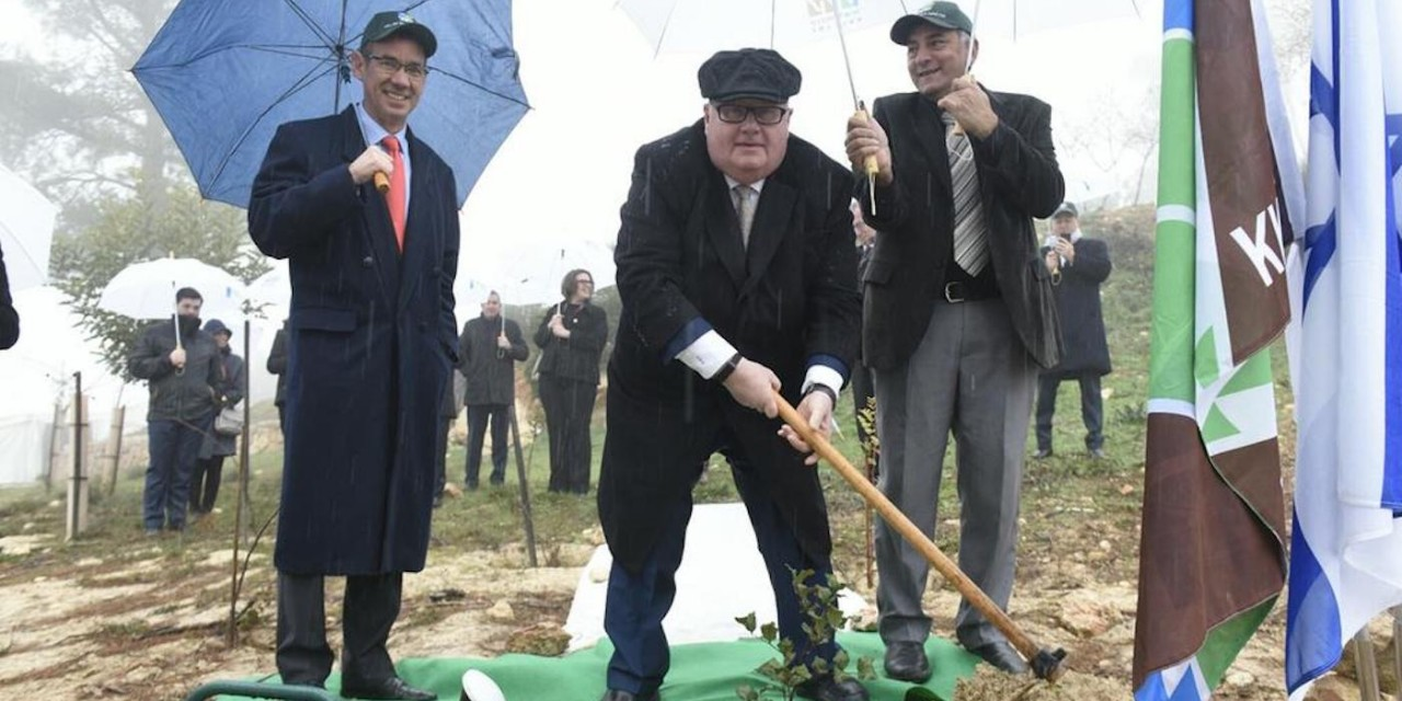 "Sir Eric Pickles MP honoured as ""friend of Jewish community"" with Israel tree planting"