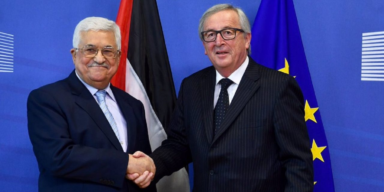 """EU welcomes """"partner for peace"""" Mahmoud Abbas to Brussels"""
