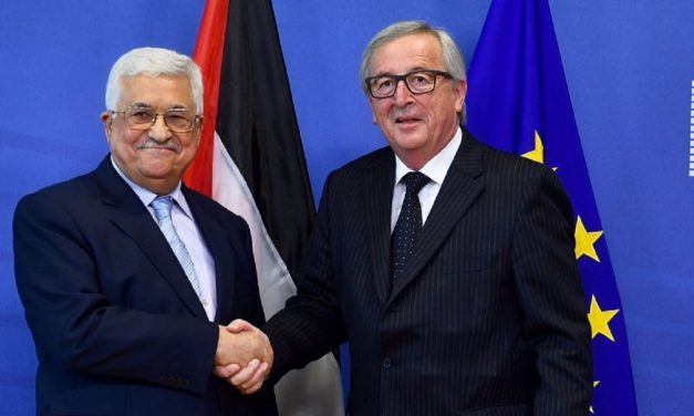 "EU welcomes ""partner for peace"" Mahmoud Abbas to Brussels"