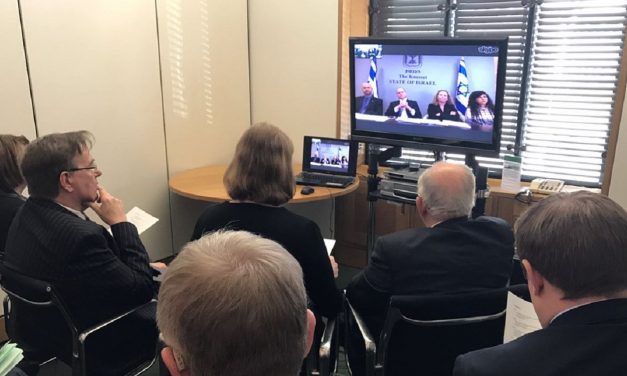 British Parliamentarians take part in first ever cross-party video conference with Israeli counterparts