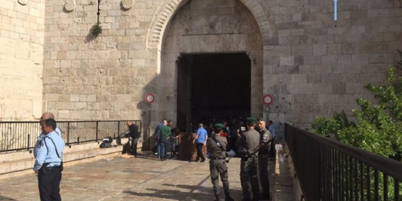Female Palestinian terrorist shot after attempting to stab Israeli policeman