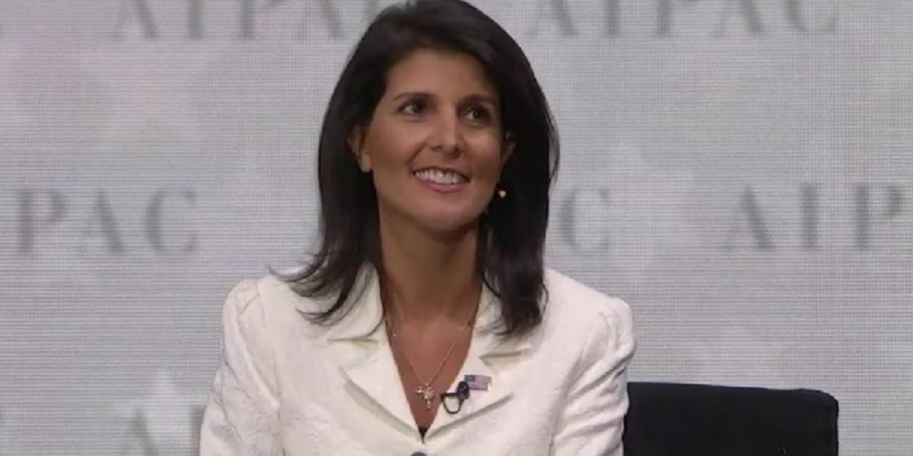 "WATCH: Nikki Haley – ""The days of Israel-bashing are over"""