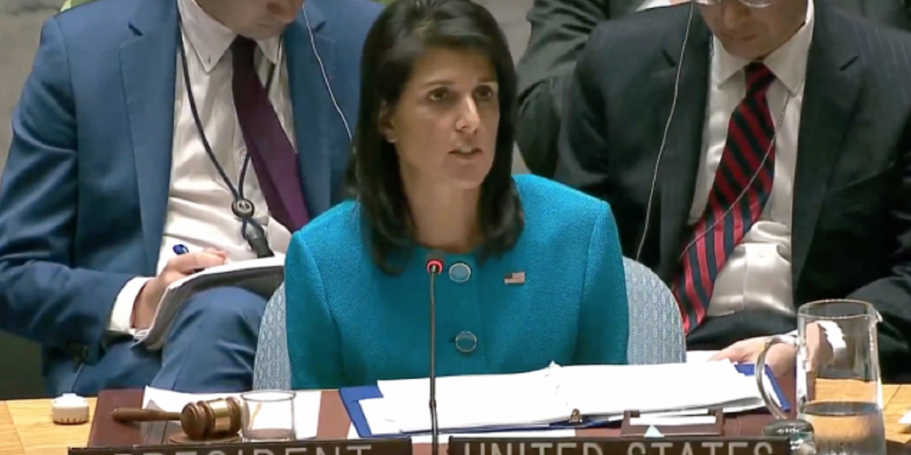 "Nikki Haley: ""Chief Culprit"" in the Middle East is Iran, not Israel"