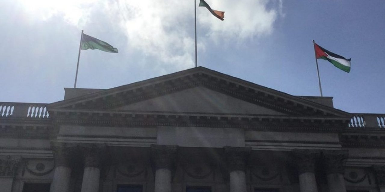 Dublin City Council votes to fly Palestinian flag above city hall