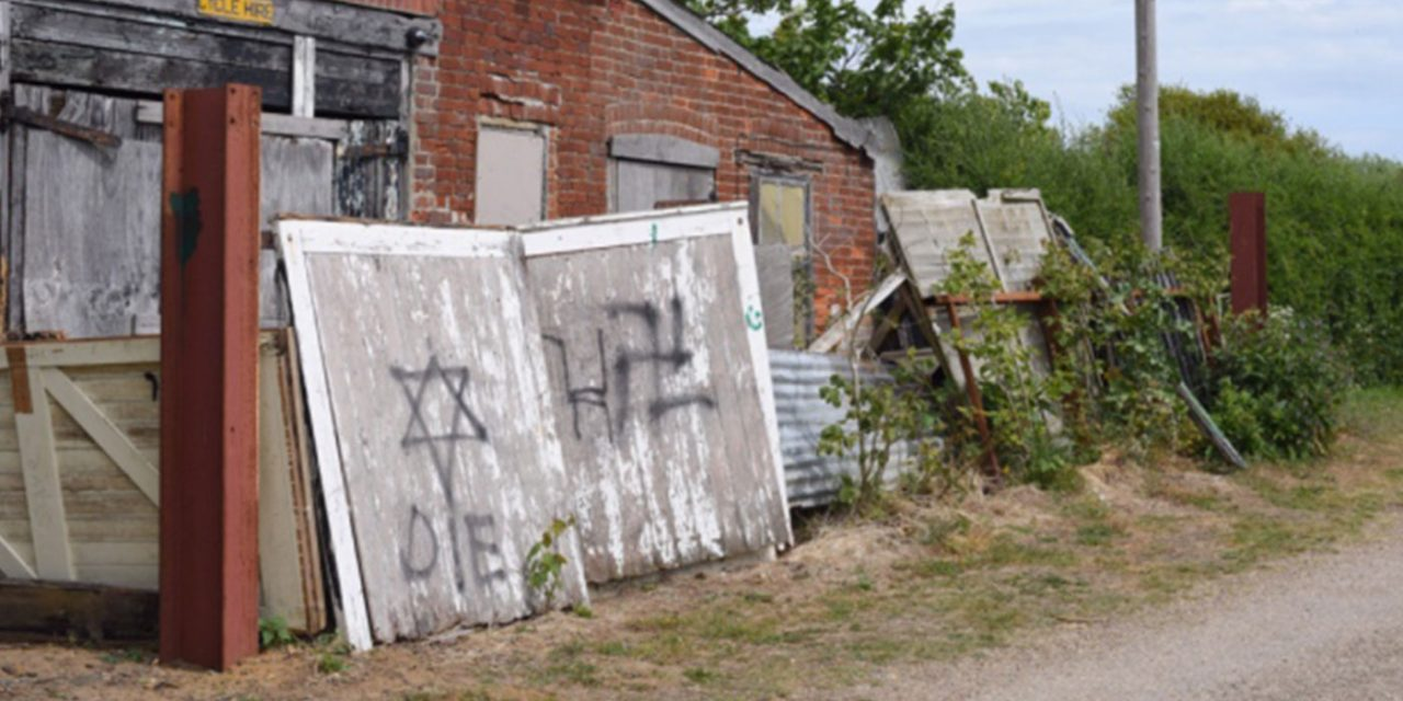 Anti-Semitic graffiti discovered in seaside community in Suffolk