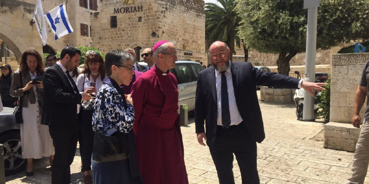 LIVE UPDATES: Archbishop Welby visits Israel today