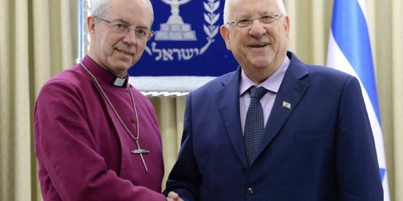 In Israel, Archbishop of Canterbury condemns boycotts, talks Balfour centenary