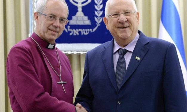 In Israel, Archbishop of Canterbury condemns boycotts, talks Balfour centenary