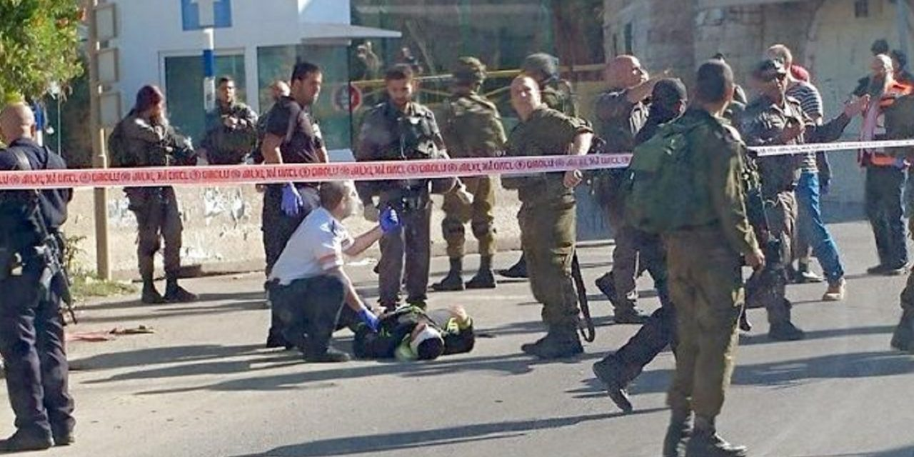 Palestinian terrorist shot attempting to stab IDF soldier