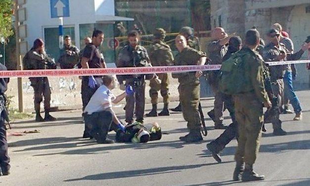 Palestinian terrorist shot attempting to stab IDF soldier
