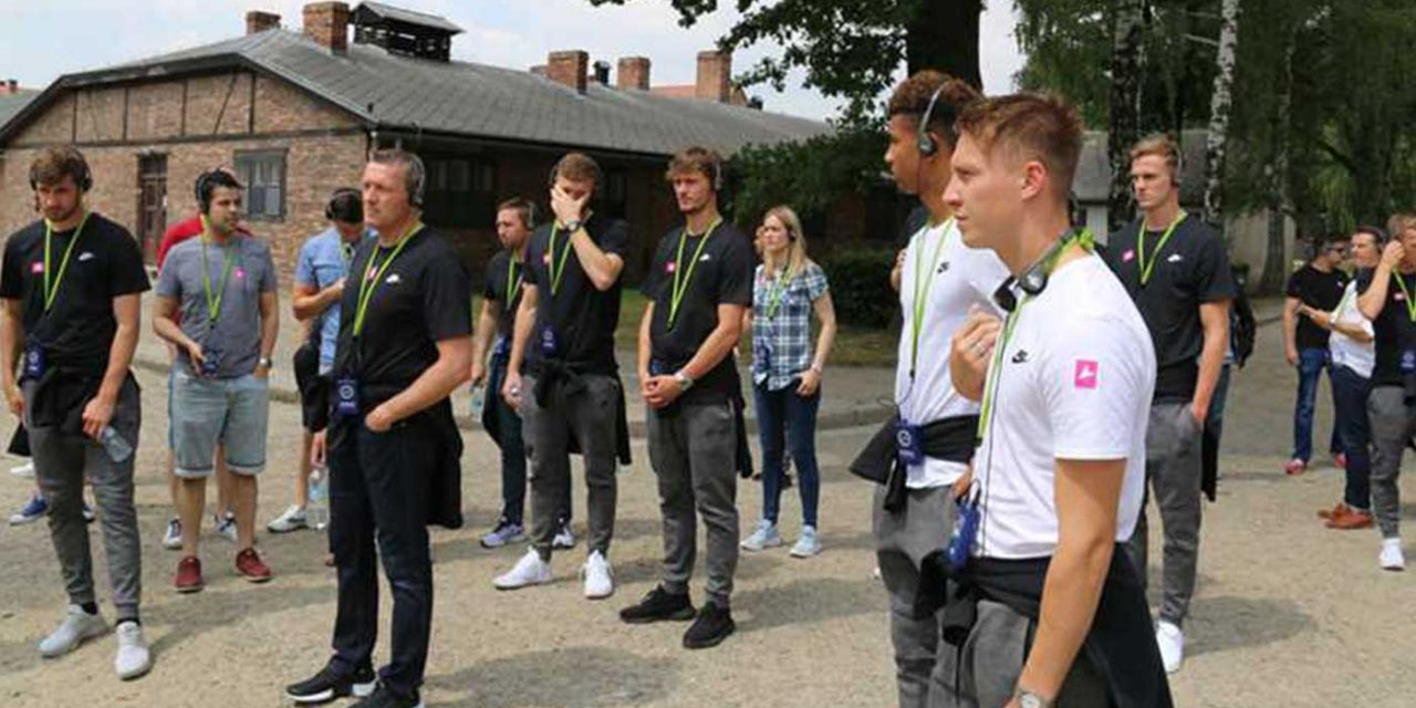 England U21 squad choose to visit Auschwitz on day off in Poland