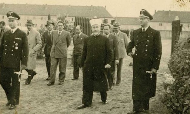 Photographs emerge of Palestinian Grand Mufti visiting Nazi camp in 1943