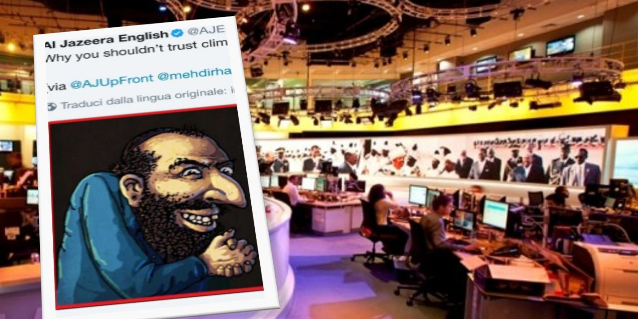 Al Jazeera tweets then deletes anti-Semitic climate change image
