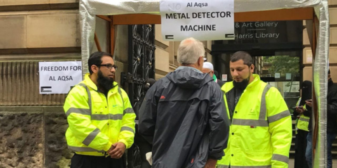 "UK: Fake metal detector installed outside Preston Library to ""highlight plight"" of Palestinians"