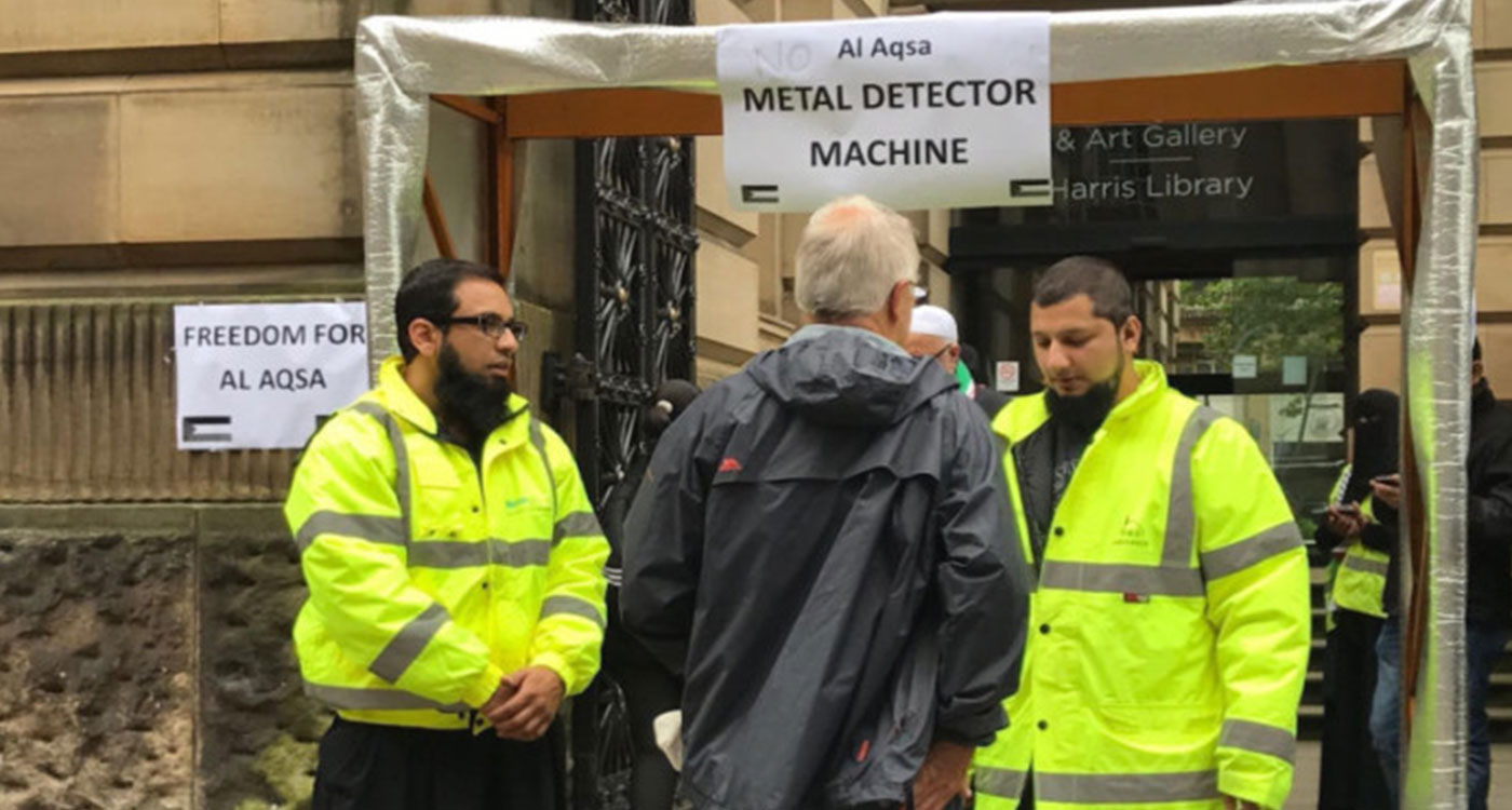 Jew Detector: UK: Fake Metal Detector Installed Outside Preston Library