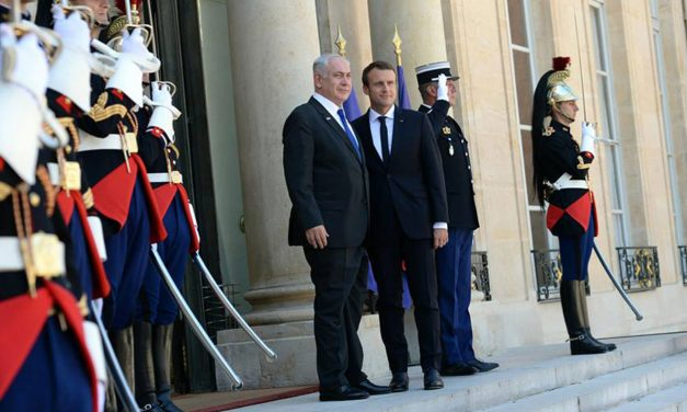 French President Macron condemns anti-Zionism as he welcomes Netanyahu