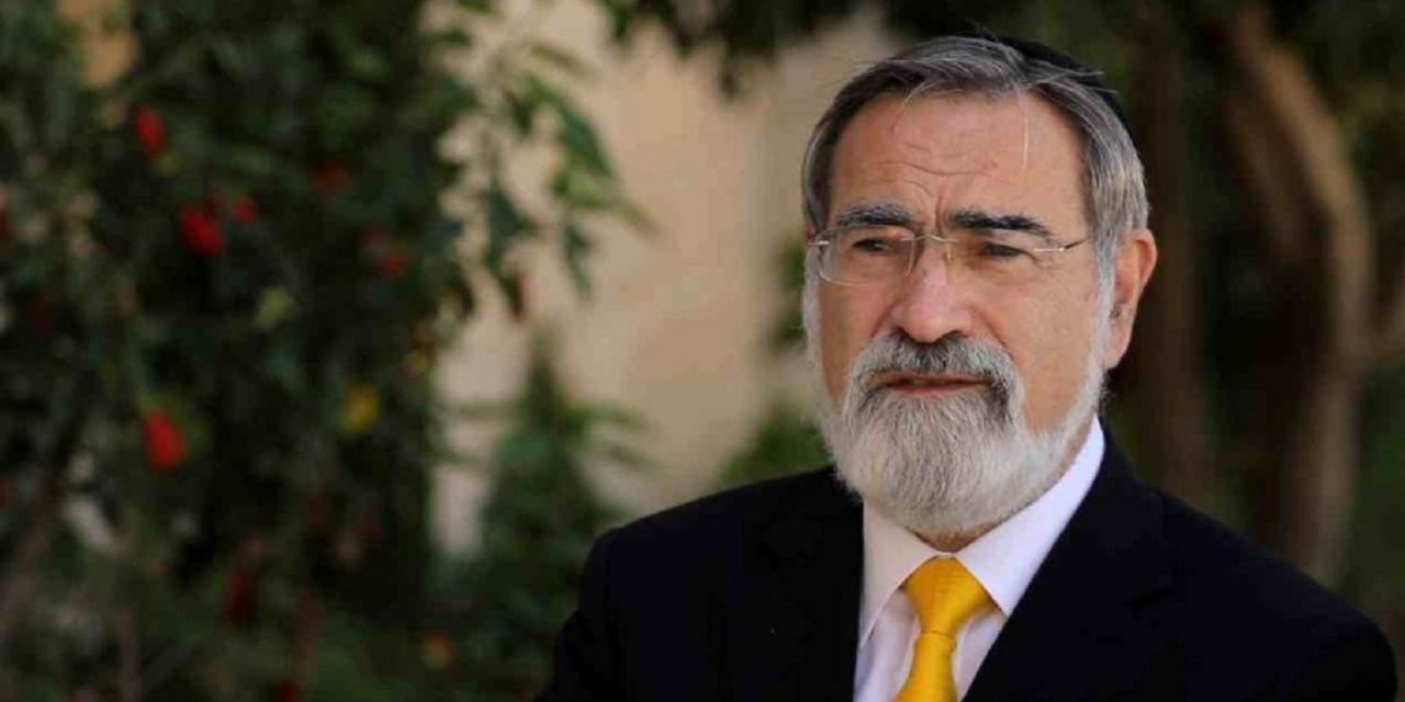 Prayers needed for Rabbi Lord Sacks as he undergoes treatment for cancer