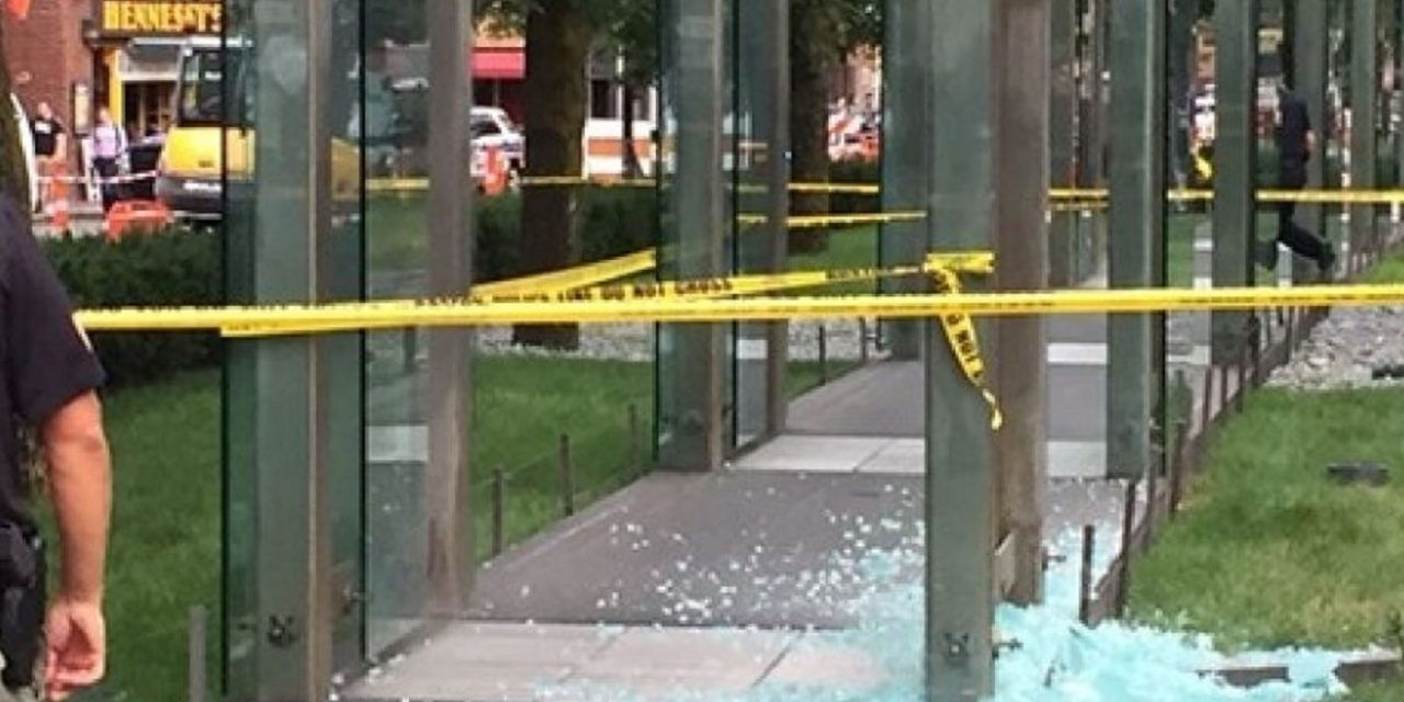 Boston's Holocaust Memorial vandalised for SECOND time in two months