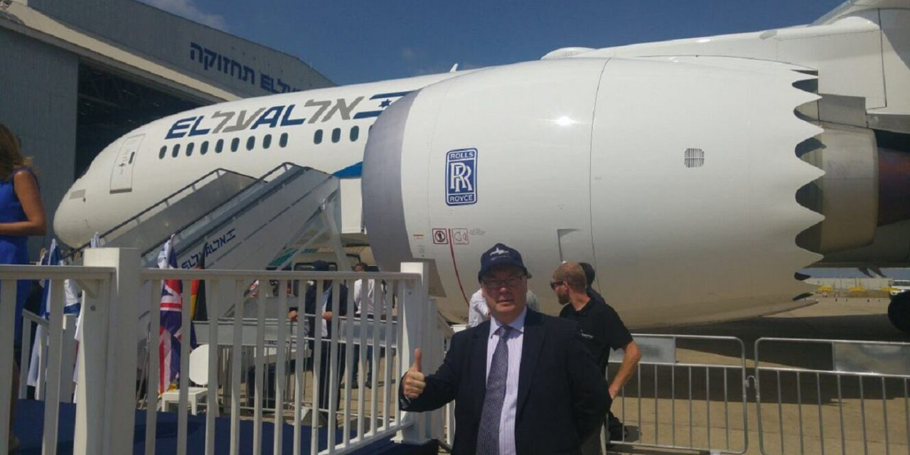 Britain's biggest-ever trade deal with Israel marked by arrival of El Al's Boeing Dreamliner