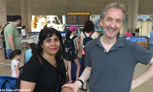 Neda Amin arrives safely in Israel