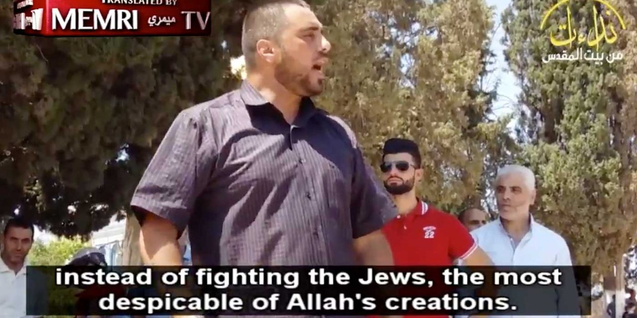 Temple Mount preacher condemns Barcelona attack then immediately calls for murder of Jews