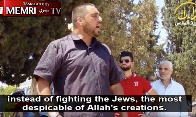 Temple Mount preacher condemns Barcelona attack then immediately calls for murder of Jews
