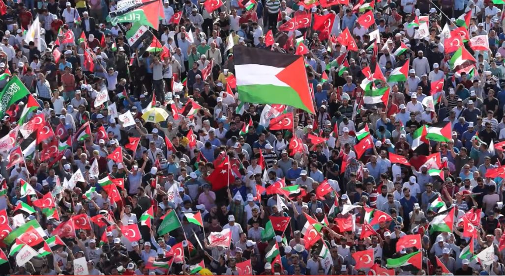 Tens of thousands in Turkey protest Israel