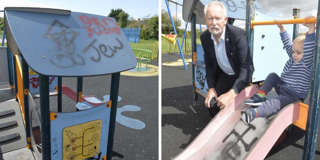 Children's play area vandalised with anti-Semitic and racist graffiti in Harwich, Essex