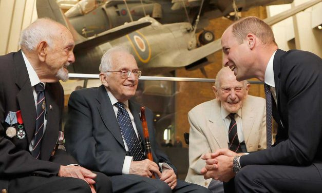 Prince William meets survivors and veterans to support new exhibition to dispel Holocaust myths