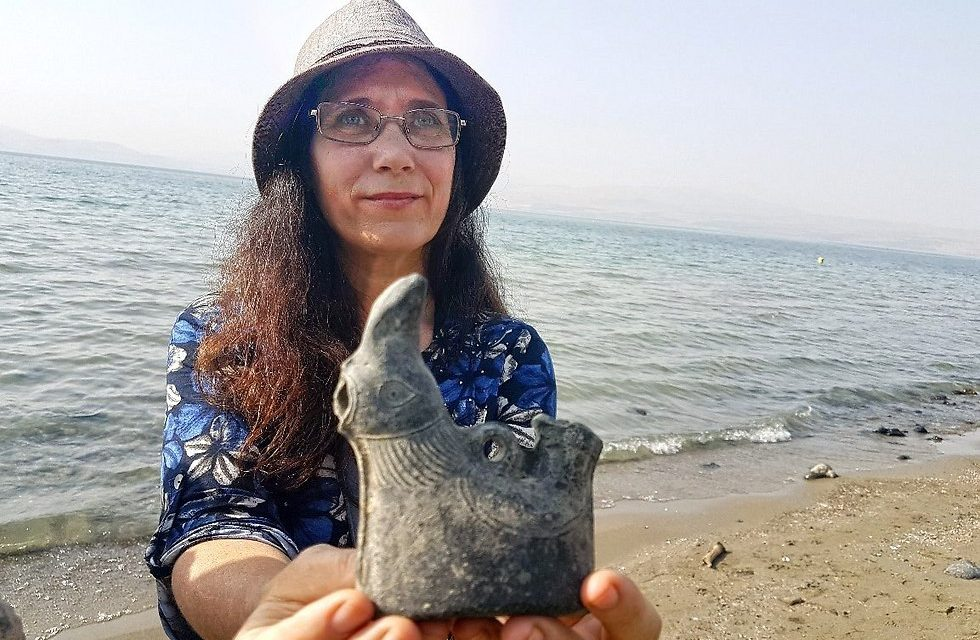 Israeli woman discovers 1,500-year-old artefact whilst wading in the Sea of Galilee
