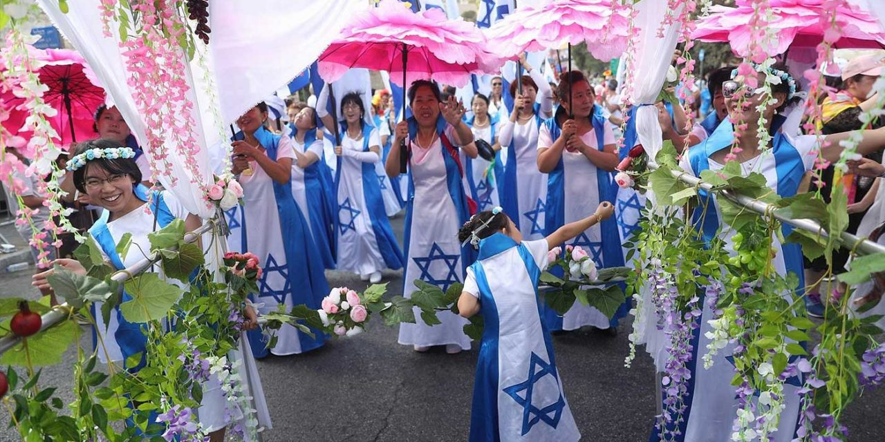 60,000 people from 80 countries march through Jerusalem to celebrate Feast of Tabernacles